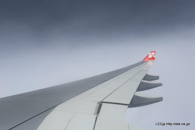タイエアアジアX 機内からの眺め