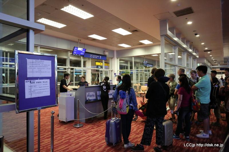 チェンマイ空港 Vair カウンター