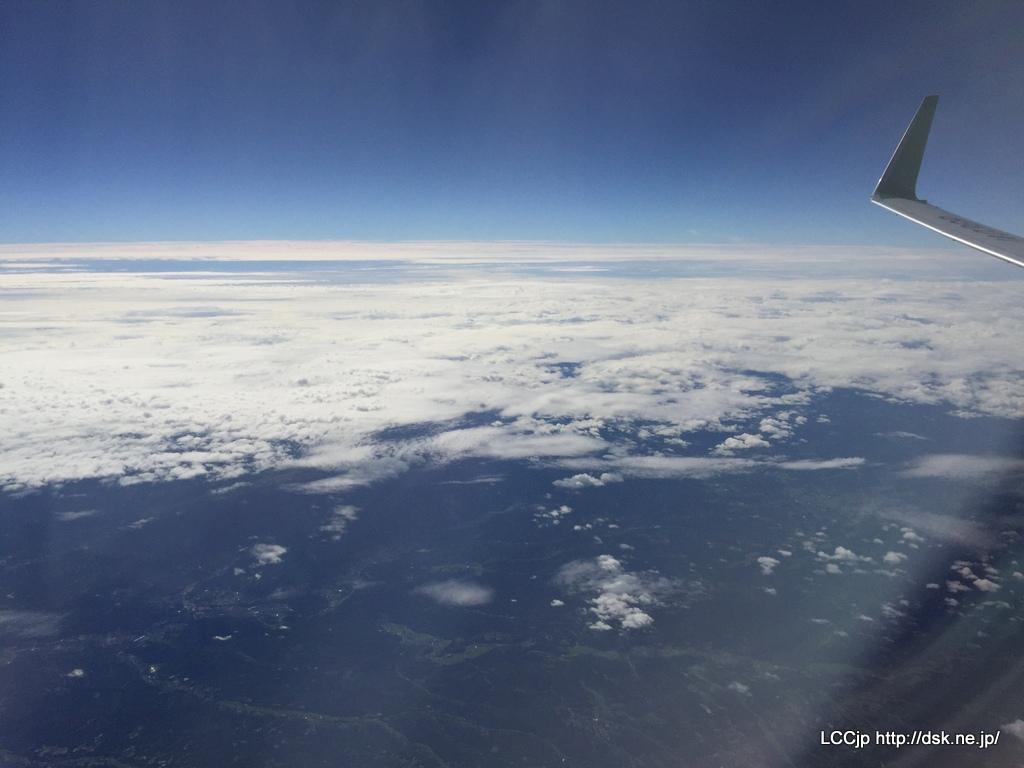 春秋航空日本 機内からの眺め