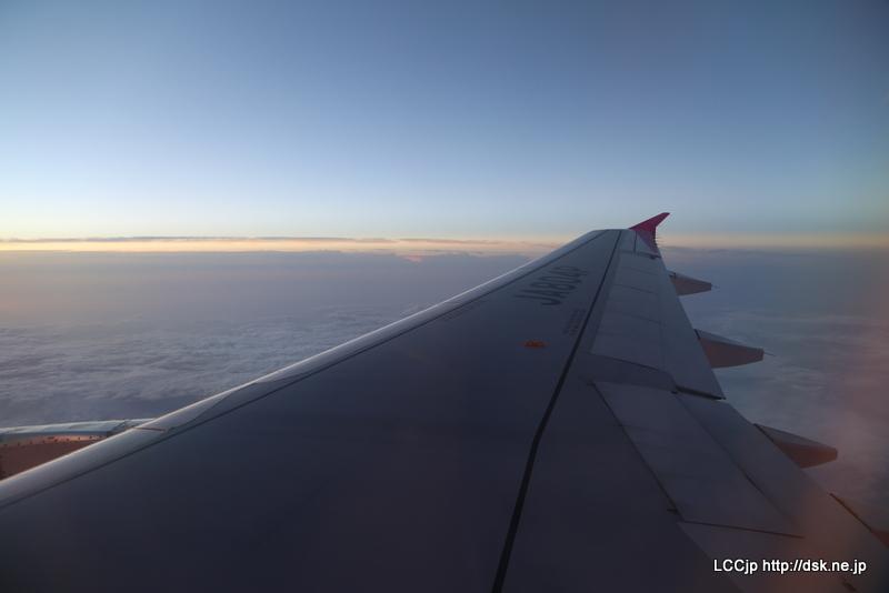 ピーチ 機内からの眺め