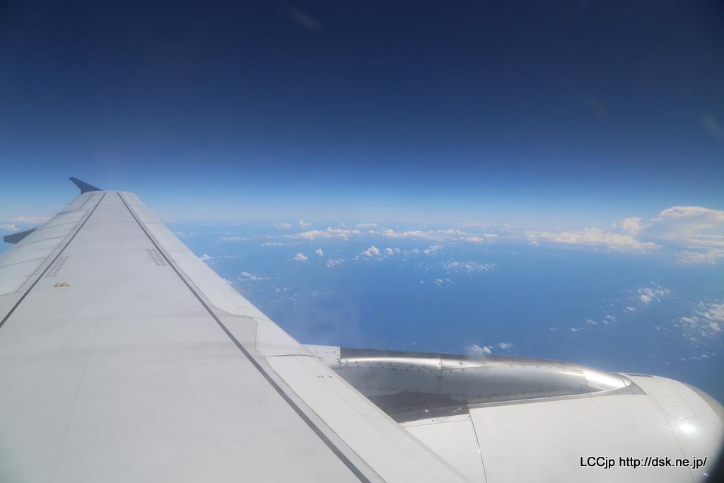 Vエア 機内からの眺め