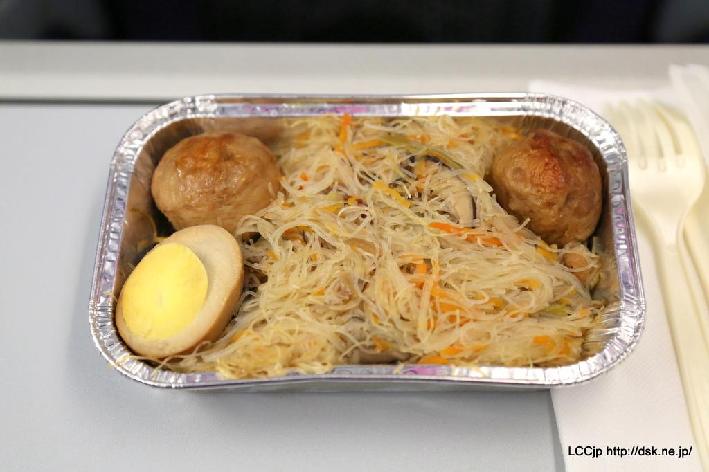 Vエア機内食 台湾ビーフン