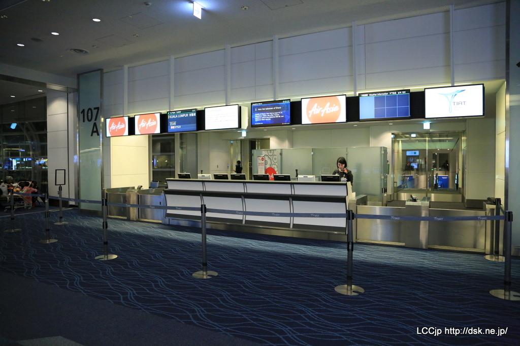 羽田空港国際線107番ゲート