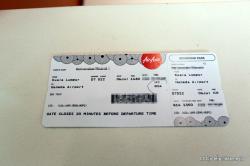 エアアジア 搭乗券発券