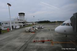 奄美空港に到着