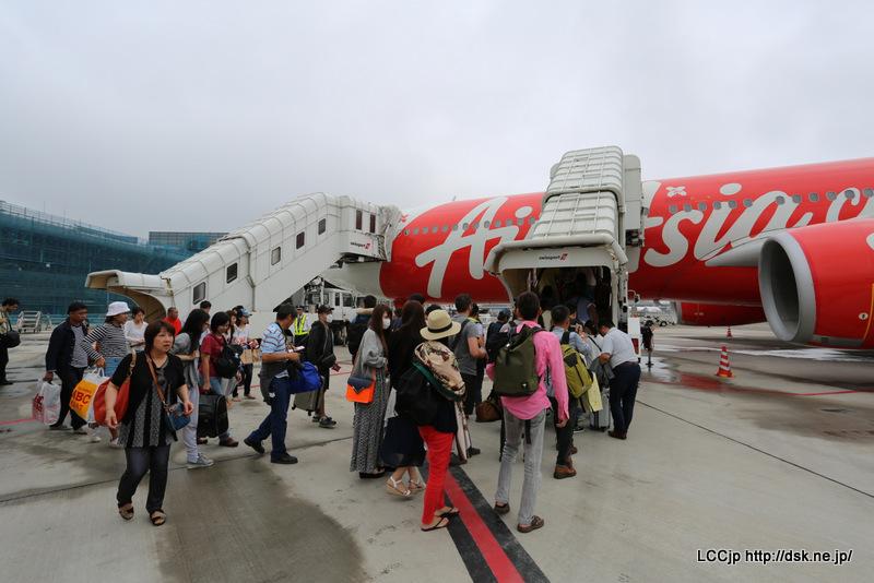 タイエアアジアX 搭乗開始