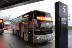 台北市内行きシャトルバス