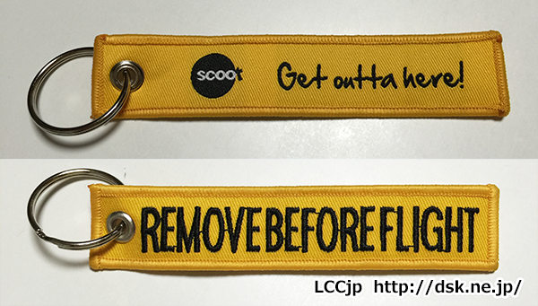 SCOOT REMOVE BEFORE FLIGHT