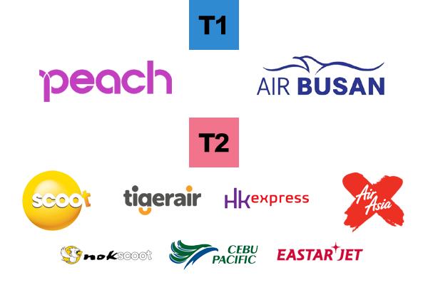 成田T1&T2 発着航空会社