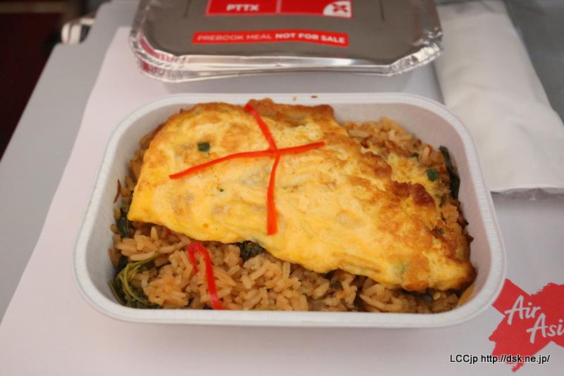 タイエアアジアX 機内食