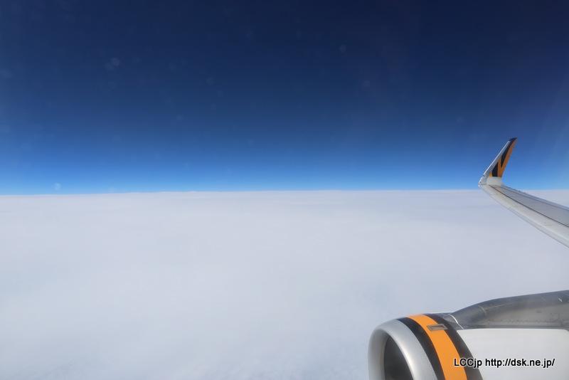 タイガーエア台湾 機内からの眺め