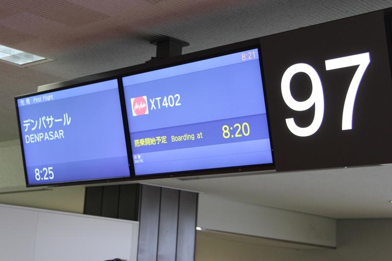 XT402 搭乗開始時刻