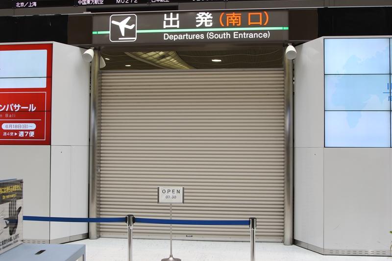 成田T2保安検査場 開場前