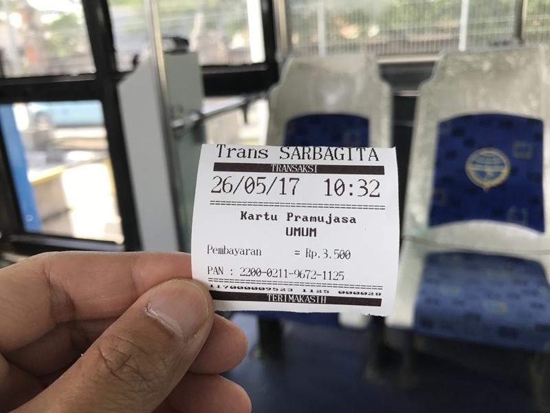 バリ 公共バス レシート