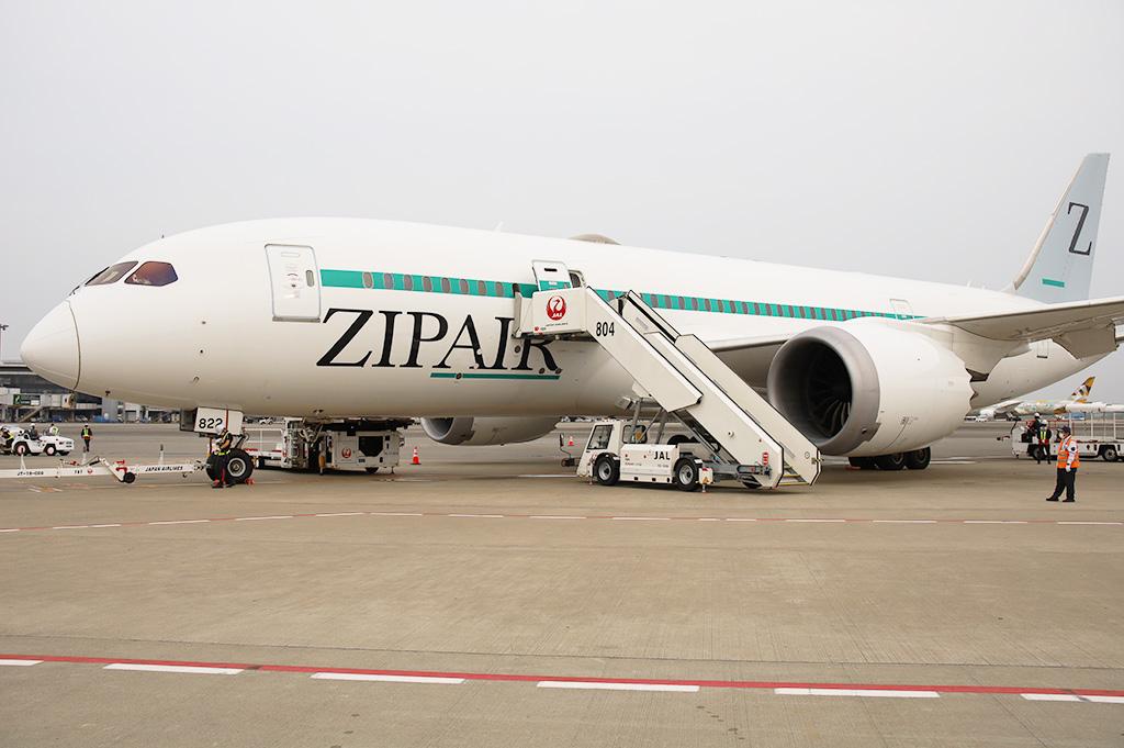 ZIPAIR ボーイング787-8型機