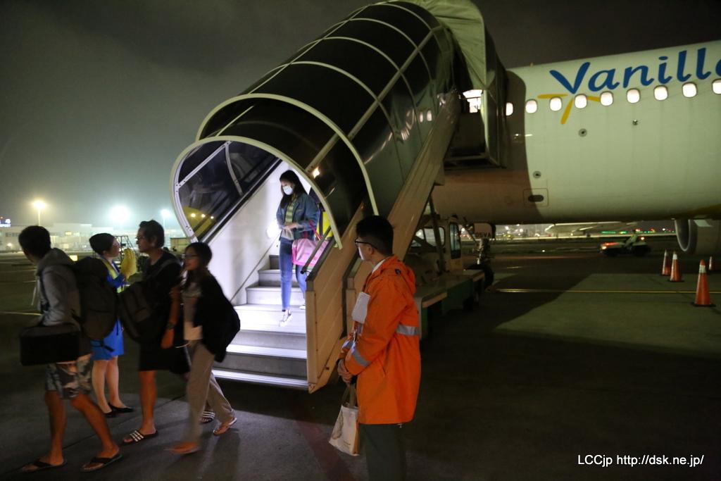バニラエア JW179便 台北到着