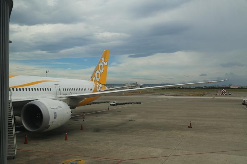 scoot 台北に到着