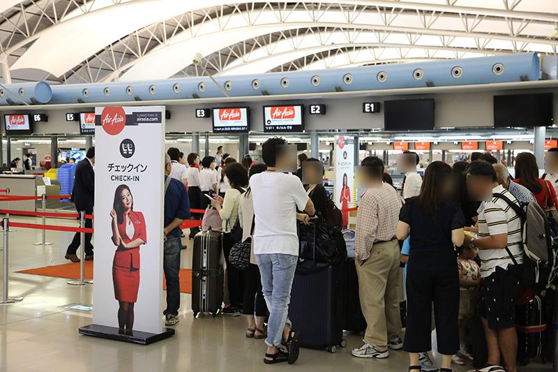 AirAsiaX ホノルル線搭乗手続き開始
