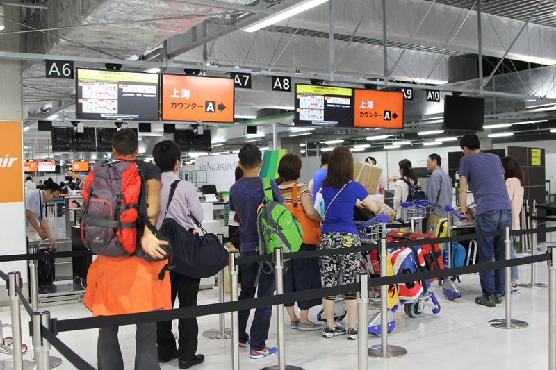 成田T3 上海線チェックイン