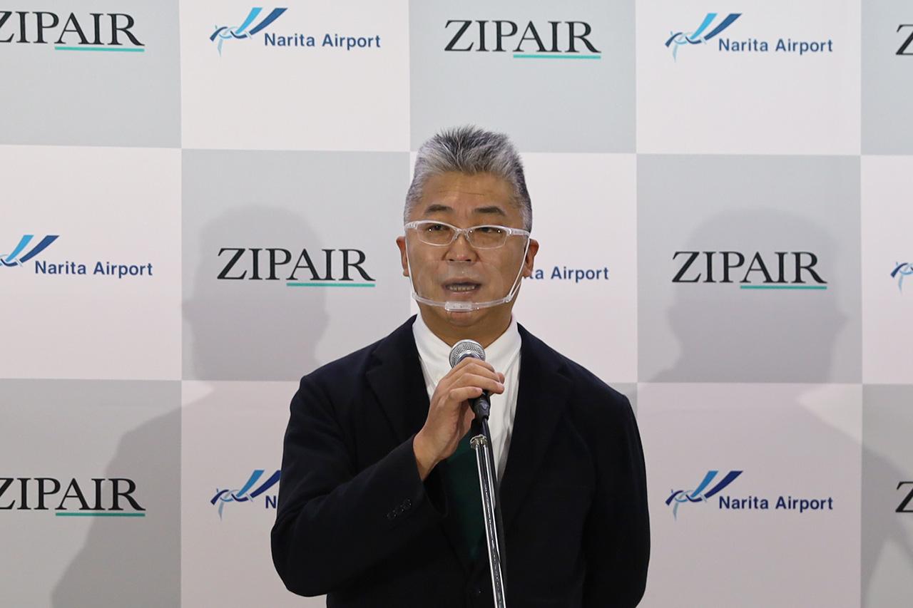 株式会社ZIPAIR Tokyo代表取締役社長 西田真吾氏