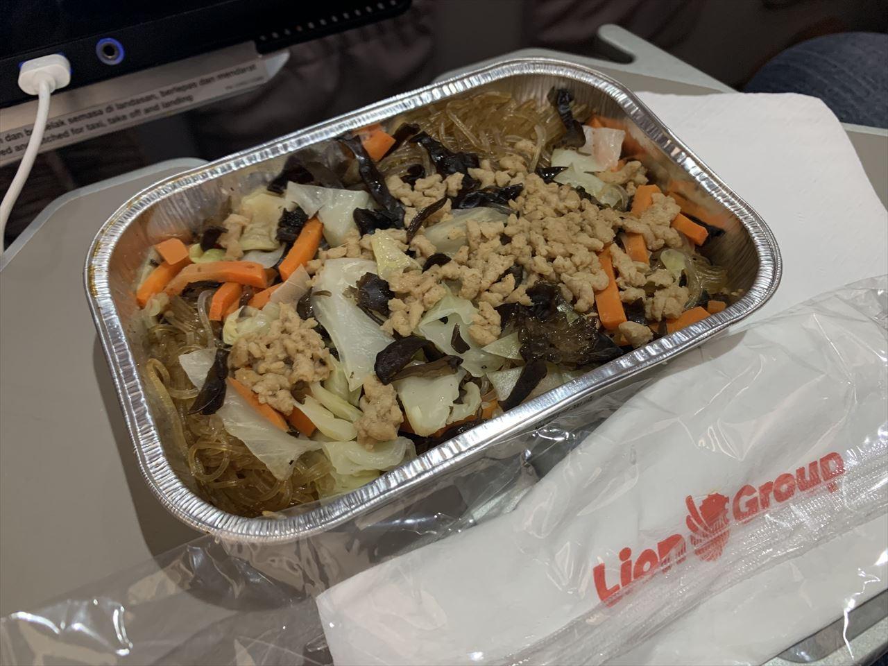 タイライオンエア 機内食 タイビーフン