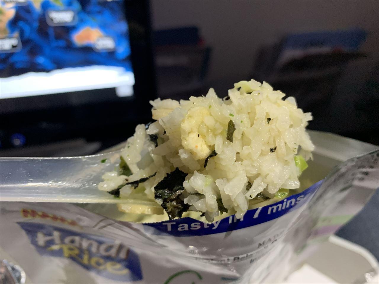 タイライオンエア 機内食 インスタントグリーンカレー