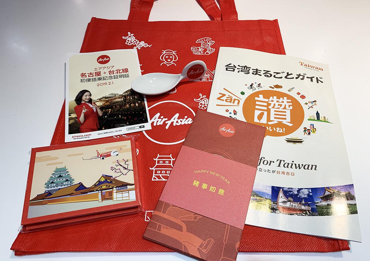 エアアジアジャパンDJ803初便搭乗記念品