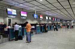 機場快線 香港駅 インタウンチェックインカウンター