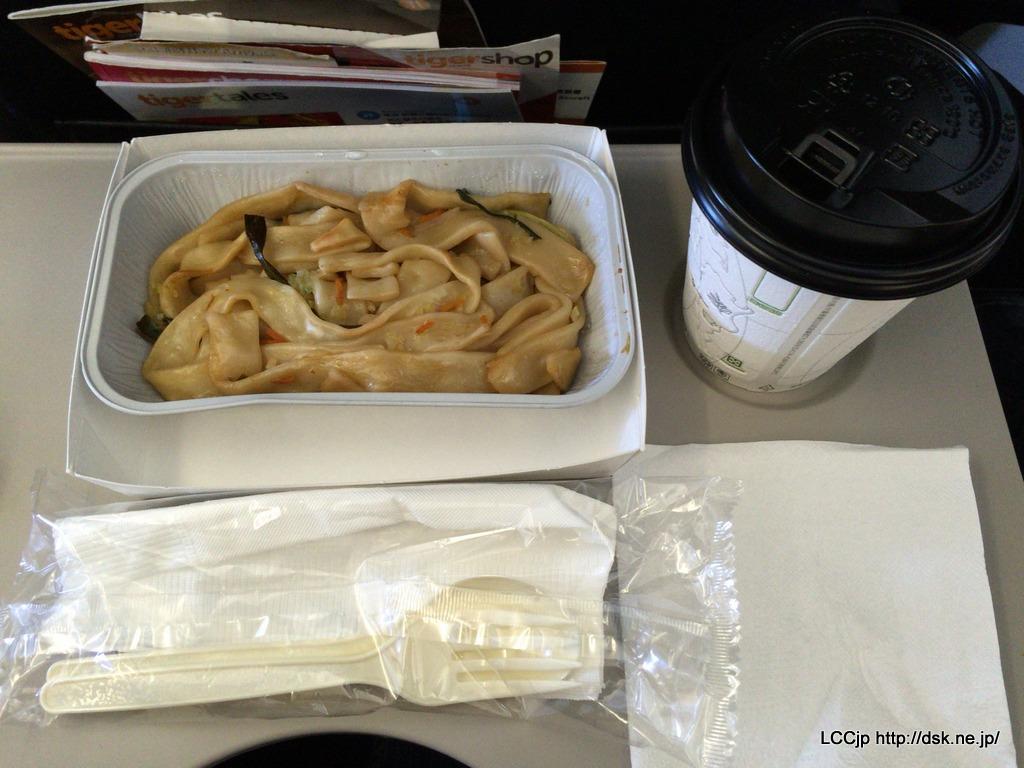 タイガーエア台湾 機内食