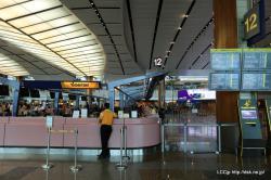 シンガポール空港 タイガーエアカウンター