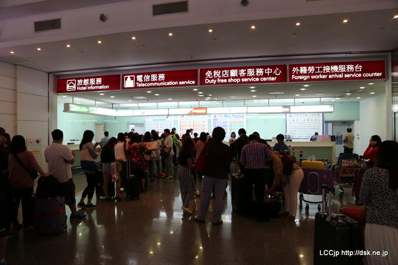 SIM購入の行列