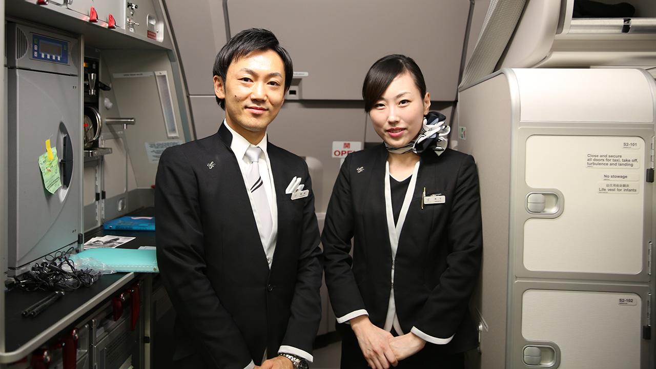 スターフライヤー 7G801初便 客室乗務員さん