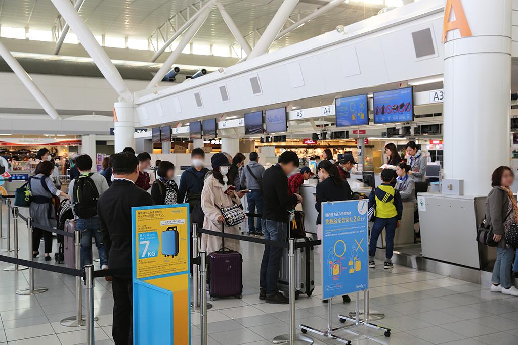 福岡空港国際線ターミナル チェックインカウンター