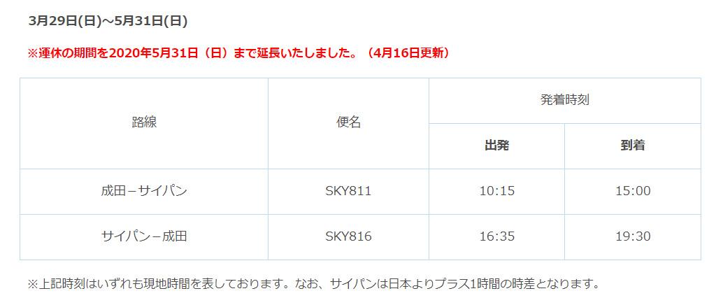 スカイマーク 運休・減便 提供:skymark