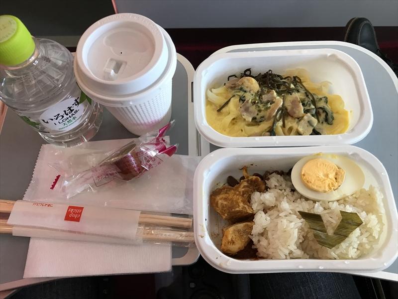 実際に食べた機内食 DJ1