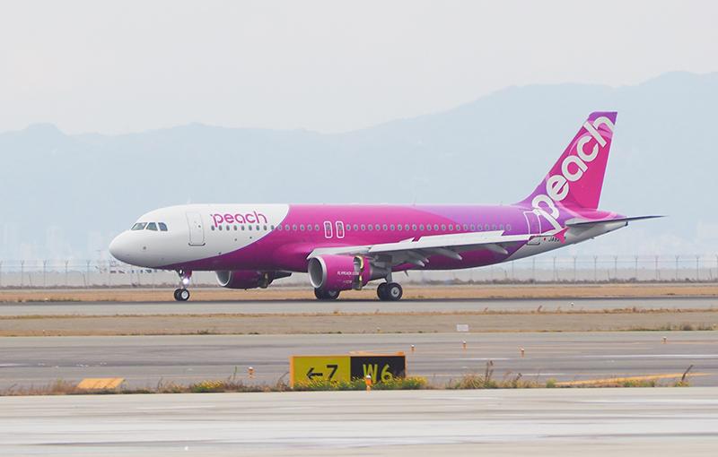 関西国際空港に到着したA320の20号機 2017/12/8 ピーチ提供