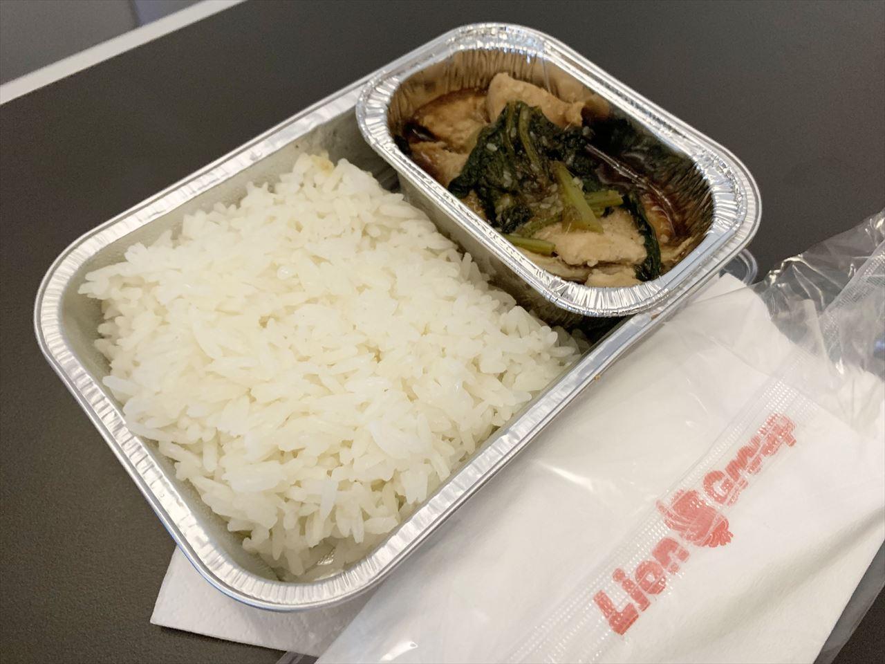 タイライオンエア機内食 照り焼きチキン