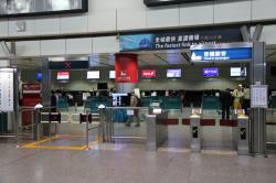 機場快線 香港駅 インタウンチェックイン改札口
