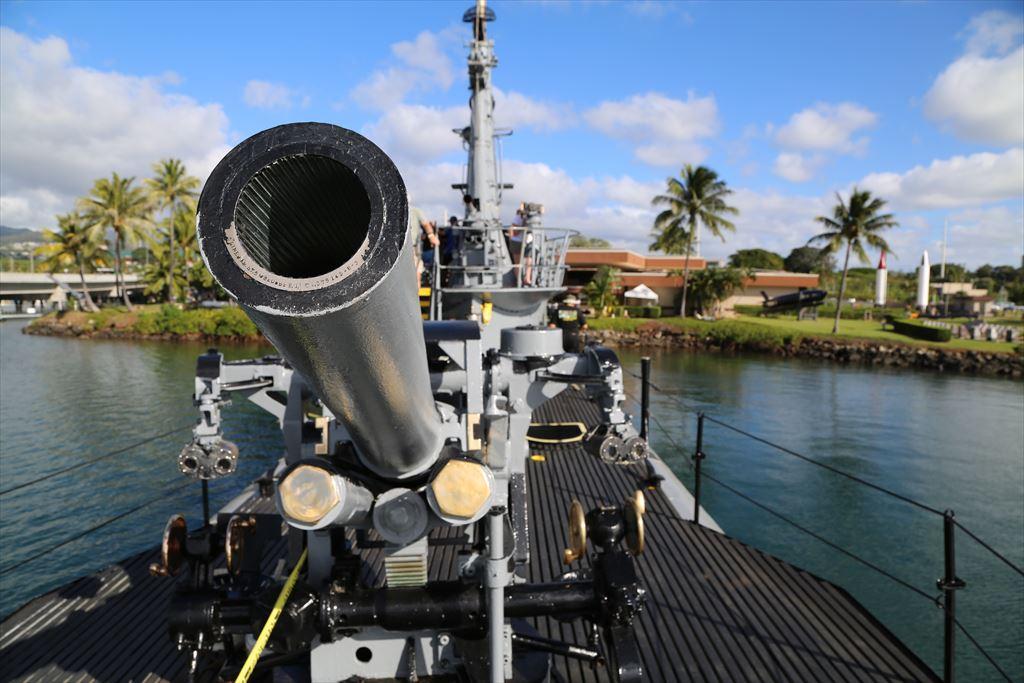 潜水艦ボーフィン 甲板上