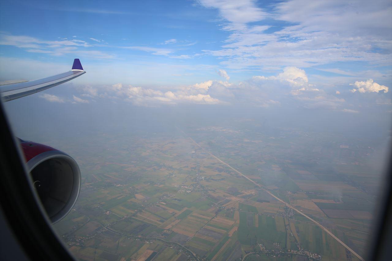 タイライオンエア 機内からの眺め