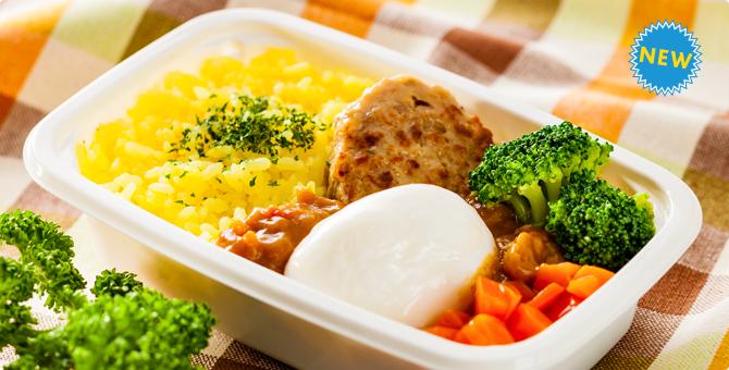 バニラエア びっくり卵のハンバーグカレー