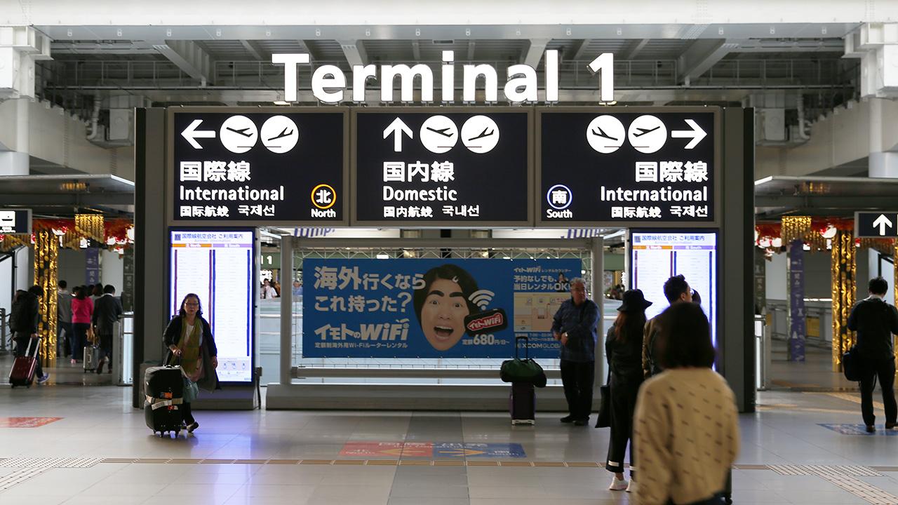 早朝の関西空港第1ターミナル