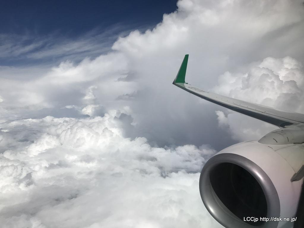 春秋航空日本 上空からの眺め
