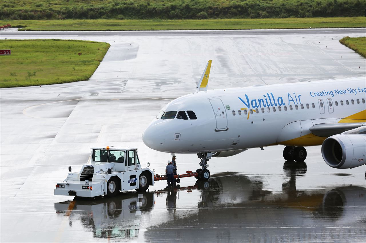 JW812初便が成田へ向かって出発