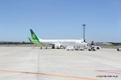 成田空港 駐機場の春秋航空日本のA320