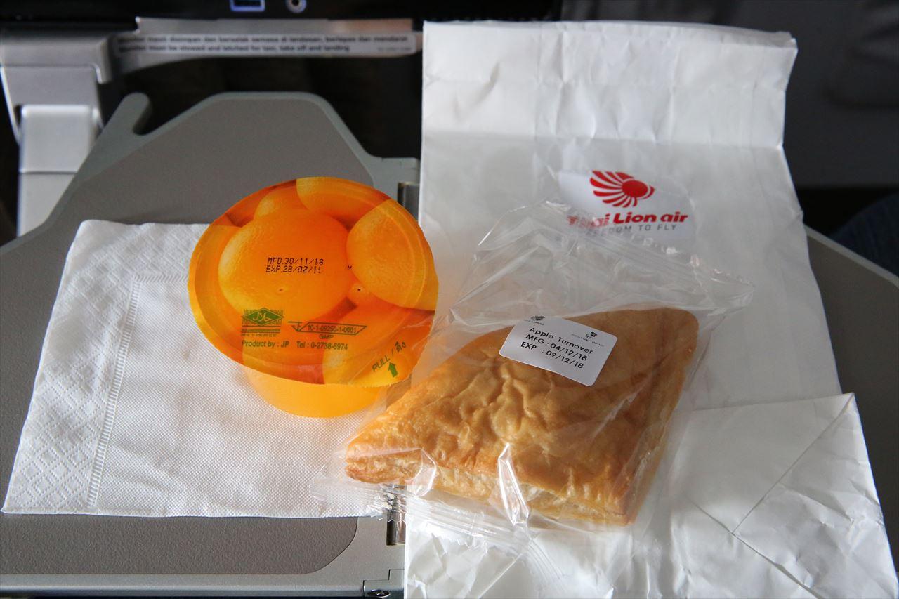 タイライオンエア 軽食