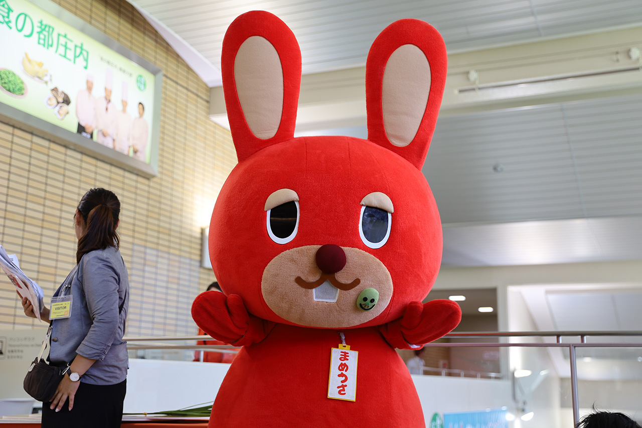 庄内空港マスコットキャラクターの「まめうさ」