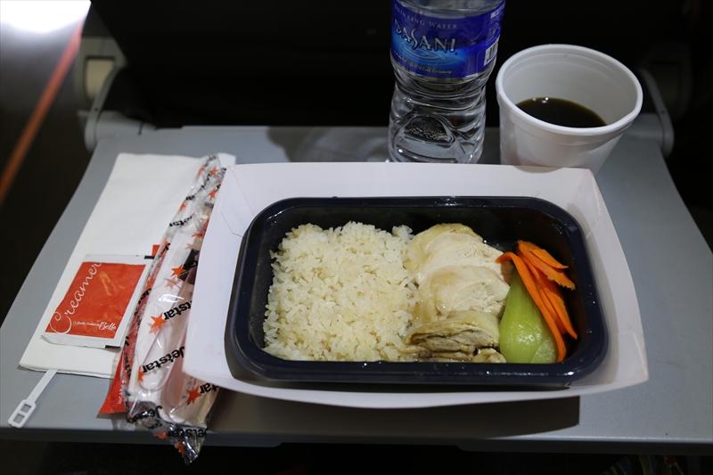 ジェットスターアジア 機内食 シンガポールチキンライス