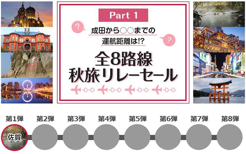 春秋航空日本 就航3周年 全8路線リレーセール
