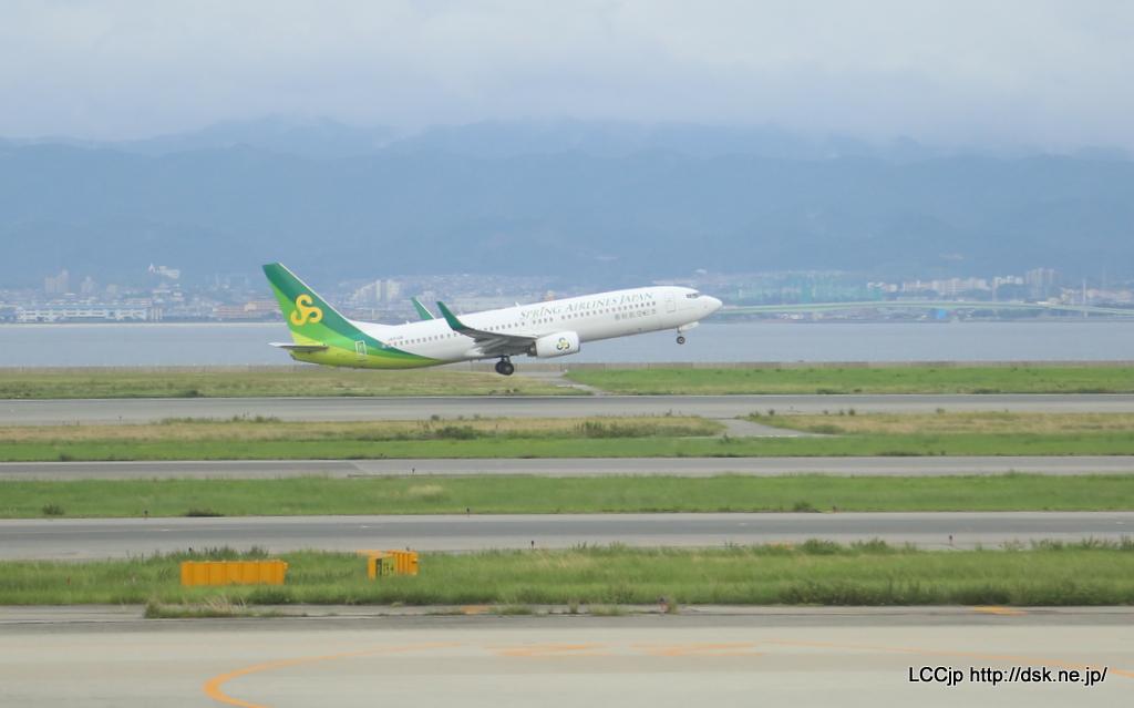 春秋航空日本 関空線就航 関空を離陸